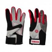 Перчатки водномотоциклетные Yamaha (черно-бело-красные)