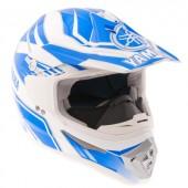 Шлем снегоходный кроссовый Yamaha MX, синий